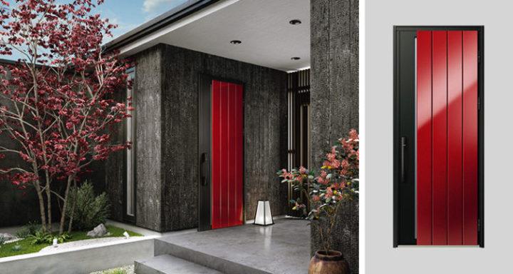YKKapの赤い玄関ドア