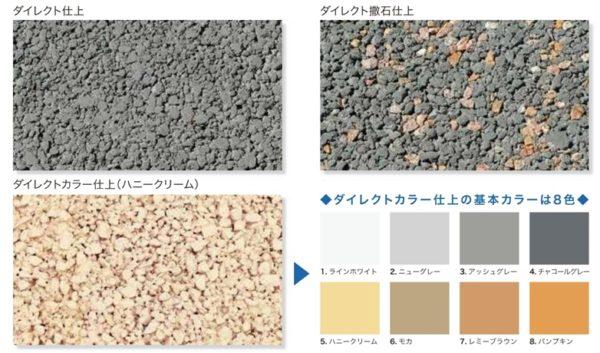 透水性コンクリート、カラーパターン