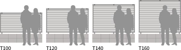 フェンスの高さのバリエーション